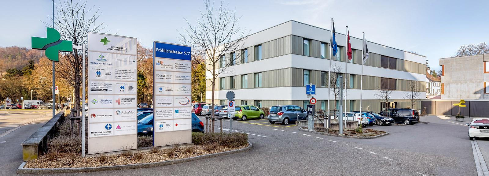 Gastroenterologie Brugg – Aussenansicht Gebäude